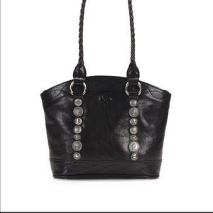 Patricia Nash Renaissance Coin Zorita Leather Multi Compartment Tote Satchel Bag